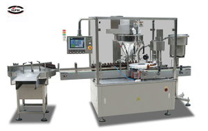 High-speed powder filling and capping machine